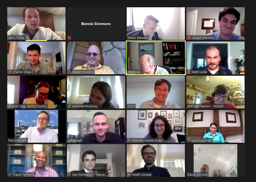 Several people in a virtual conference
