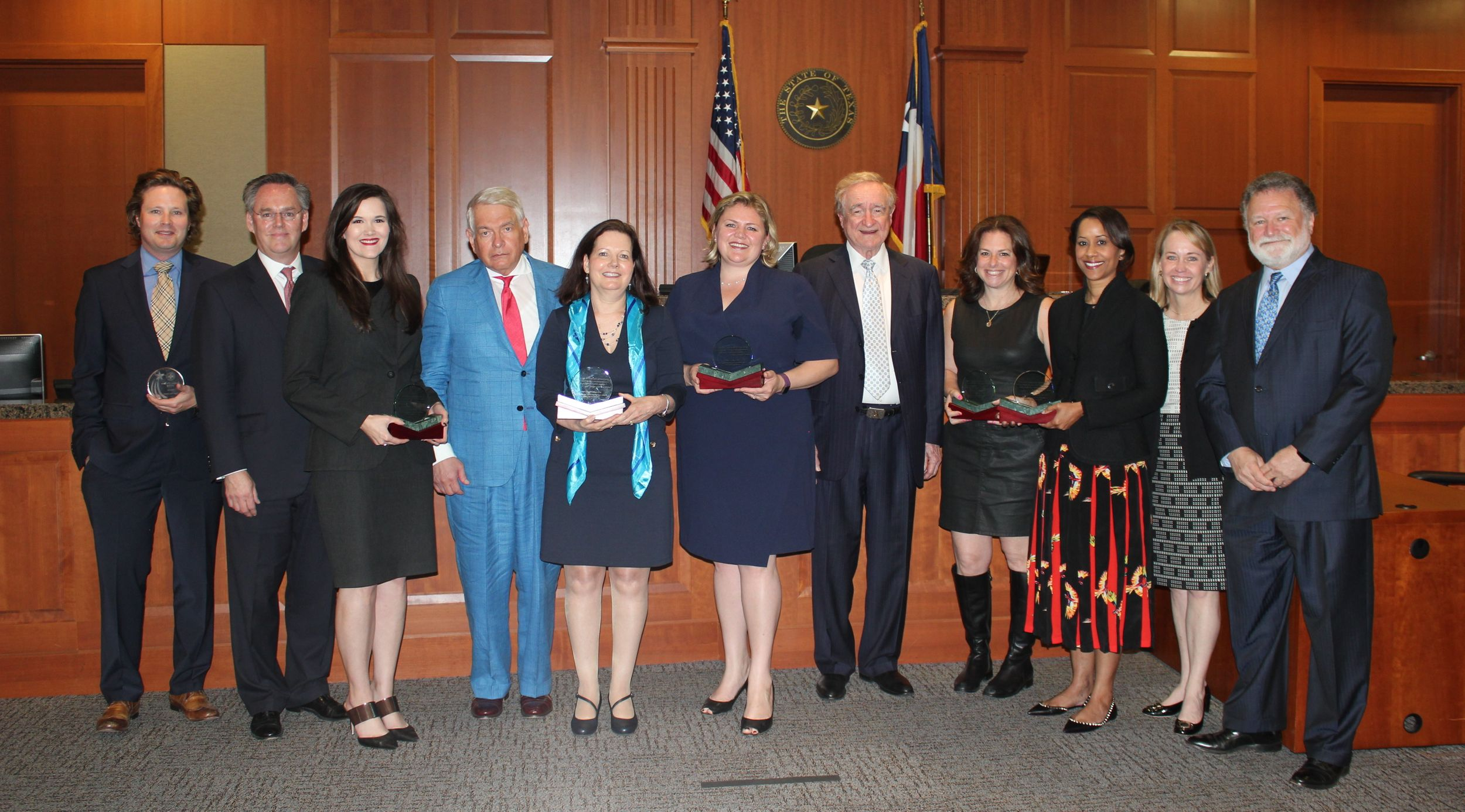A row of guests and honorees at the Bench Bar Pro Bono Awards Ceremony