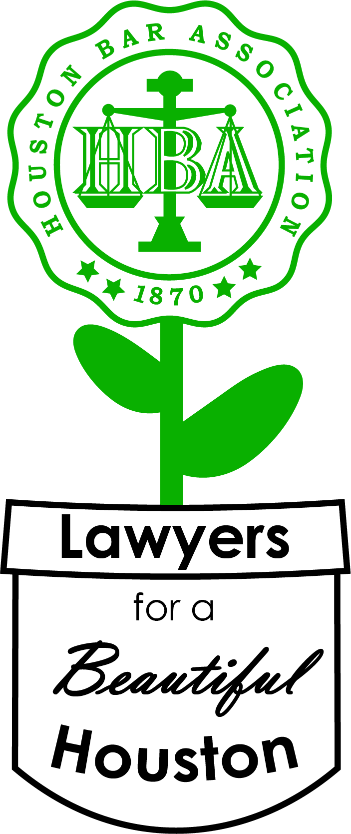 The Lawyers for a Beautiful Houston logo