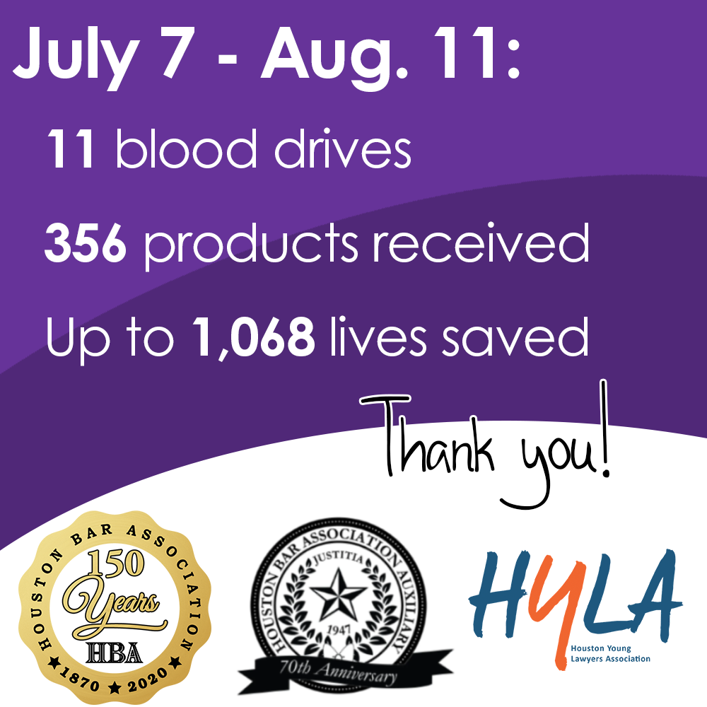 July and August blood drive statistics