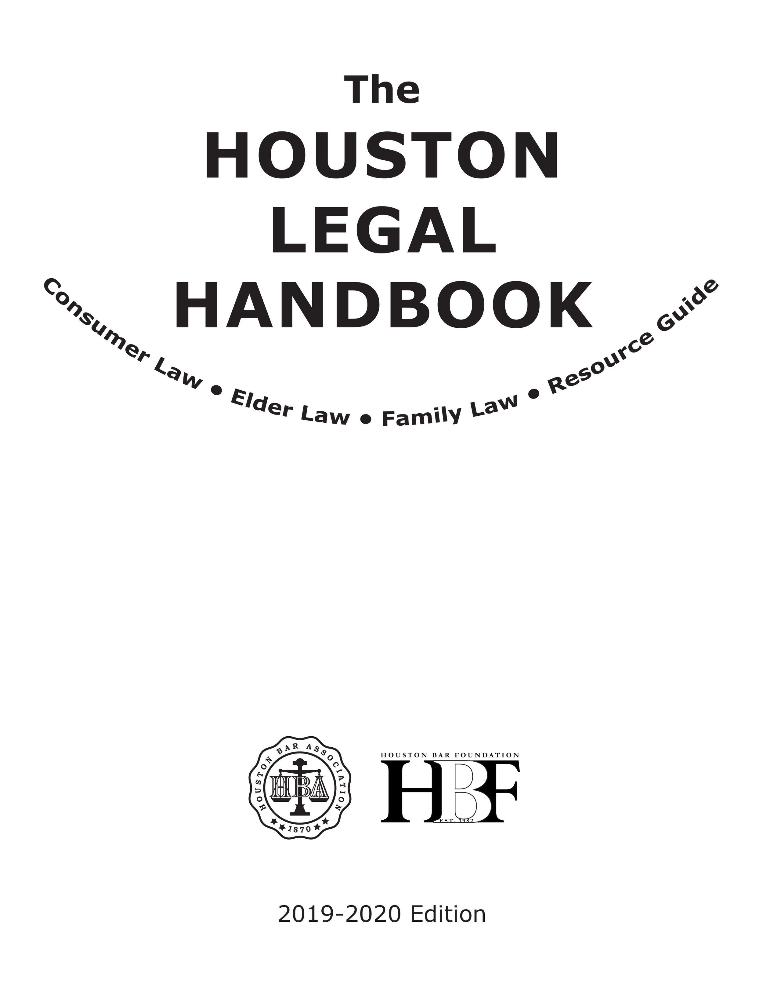 The Houston Legal Handbook cover