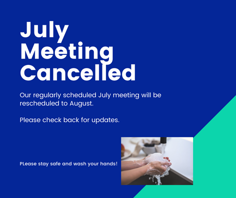 July meeting cancelled