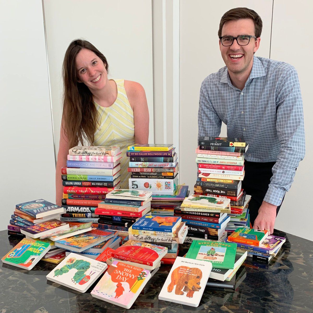 Attorneys from Latham Watkins with book donations