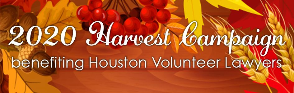 2020 Harvest Campaign benefiting Houston Volunteer Lawyers
